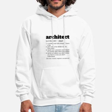 Architect Architect Definition T-Shirt, Funny Architects - Men's Hoodie
