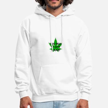 Smoking high I no fucks given I cannabis I weed I gift - Men's Hoodie