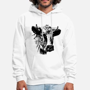 Cow head cow t shirts - Men's Hoodie
