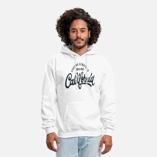 Malibu Hoodies & Sweatshirts - California Malibu - Men's Hoodie white