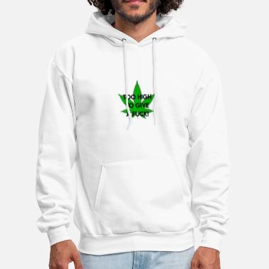 No Smoking high I no fucks given I cannabis I weed I gift - Men's Hoodie
