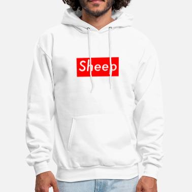 Sheep sheep box logo hype farm - Men's Hoodie