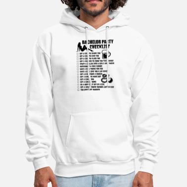 Checklist bachelor party checklist friend - Men's Hoodie