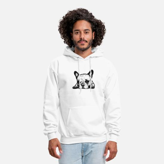 Boston Hoodies & Sweatshirts - Dog Lover Boston Terrier French Bulldog Unisex Ame - Men's Hoodie white