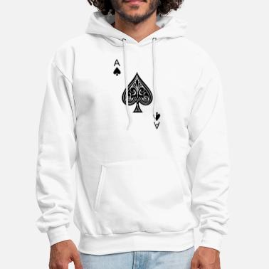 Ace of Spades Men Women Funny Playing Card Gamblin - Men's Hoodie