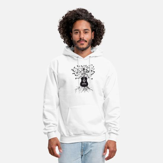 Math Is Radical T-shirts Hoodies & Sweatshirts - Acoustic Guitar Tree Electric Bass Amp Strings mus - Men's Hoodie white