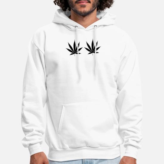 f33fd20d1c4b Weed Cannabis Bra Top Crop Womens Girls Fun Tumblr Men's Hoodie ...