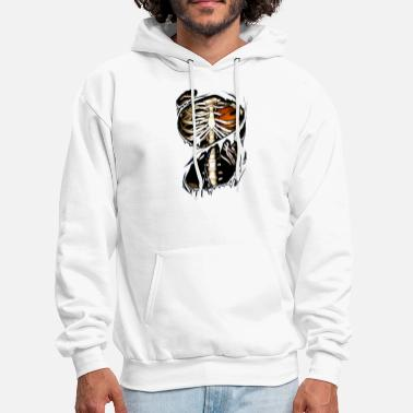 baseketball inside bone game festival scare player - Men's Hoodie