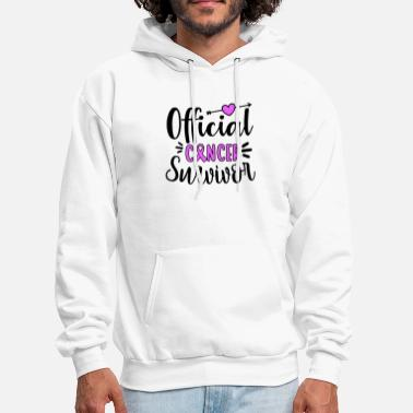 official cancer survicor awareness cancer - Men's Hoodie