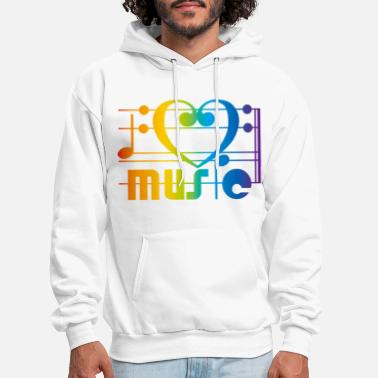 Music I LOVE MUSIC - Men's Hoodie