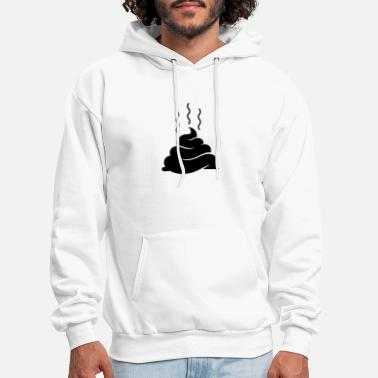 Funny Dog &amp Pile Of Shit (1c)++ - Men's Hoodie