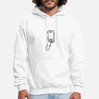 Mobile Phone arm with mobile phone - Men's Hoodie