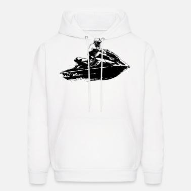 Heartbeat Jet Ski Hoodie Jet Skiing Hoody Water Hooded Sweat Sizes S-XXL