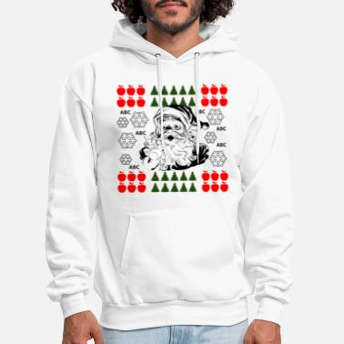Ugly Ugly Christmas Sweater With Santa - Men's Hoodie
