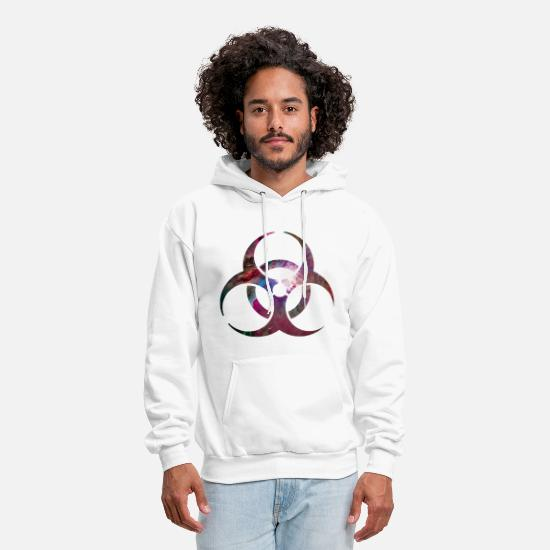 Cool Hoodies & Sweatshirts - Toxic Biohazard warning signs Hardstyle Electro - Men's Hoodie white