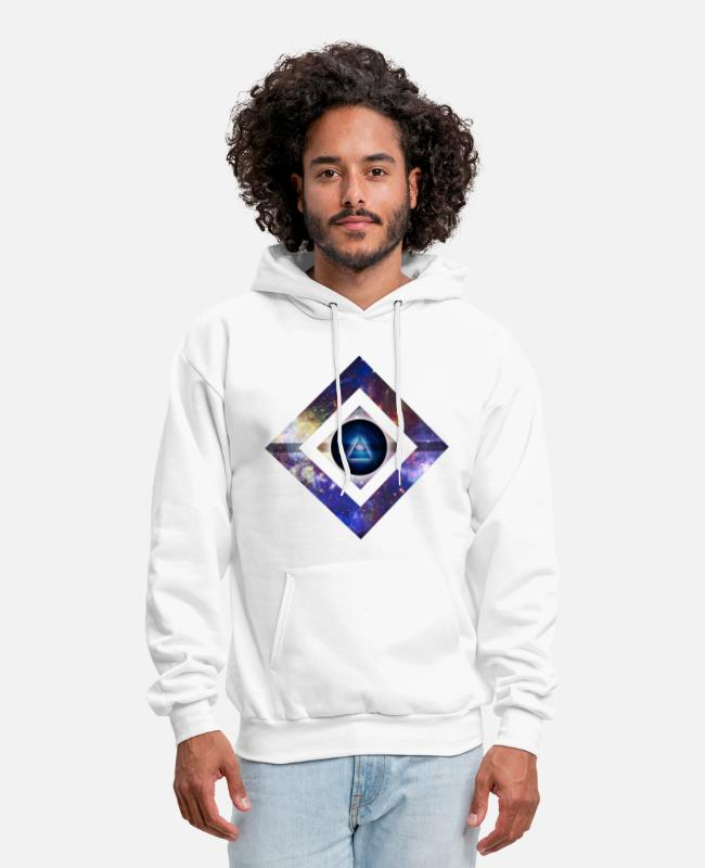 Geometry Hoodies & Sweatshirts - Center of Existence - Men's Hoodie white