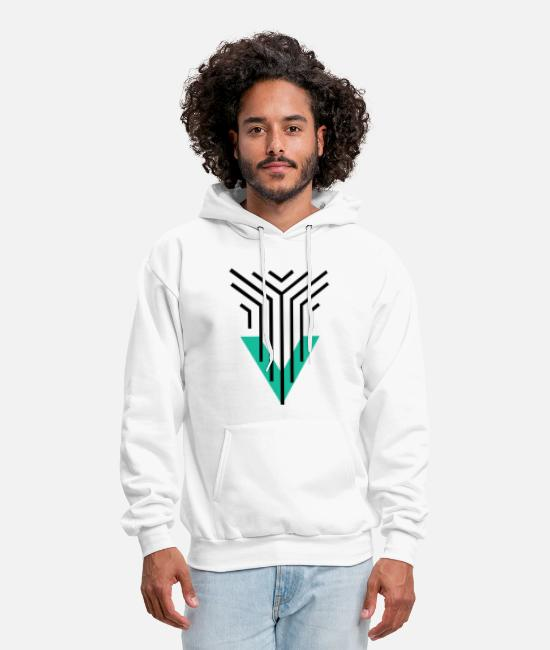 Artist Hoodies & Sweatshirts - Shape Triangle Lines - Men's Hoodie white