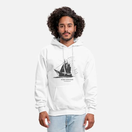 Boat Hoodies & Sweatshirts - Sailing Ship - Maritime - Men's Hoodie white