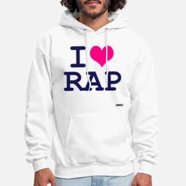 I Love i love rap by wam - Men's Hoodie