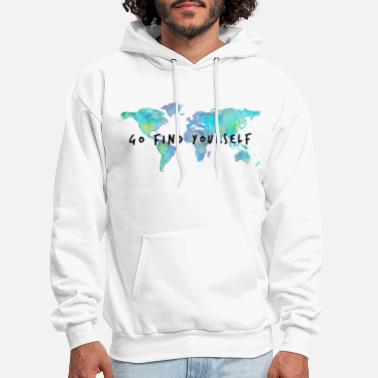 Travel Go Find Yourself - Travel The World! - Men's Hoodie