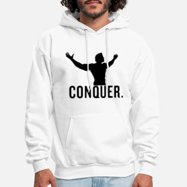 Bodybuilding Conquer Arnie Vector Design - Men's Hoodie