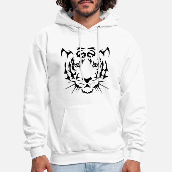 473a6560c Jungle Hoodies & Sweatshirts - Tribal Tiger - Men's Hoodie white
