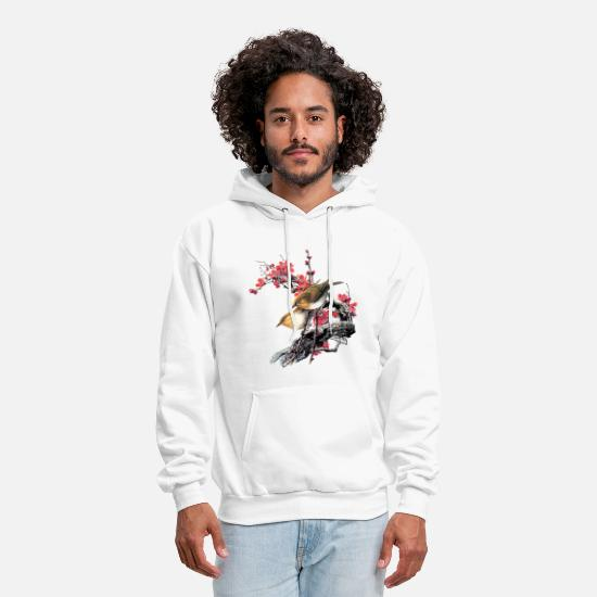 Winter Hoodies & Sweatshirts - Birds - Men's Hoodie white