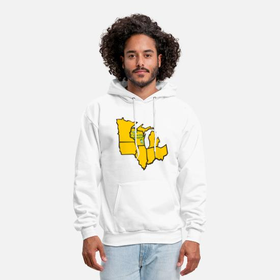 Wisconsin Hoodies & Sweatshirts - I'm with Stupid Funny Wisconsin - Men's Hoodie white