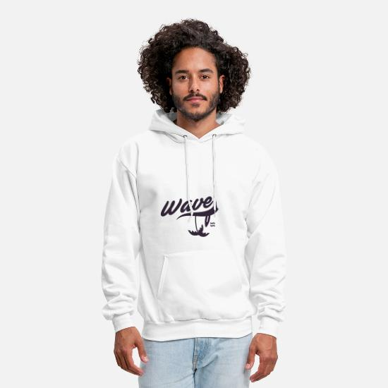 Waves Hoodies & Sweatshirts - Wave - Men's Hoodie white