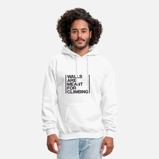Climbing Hoodies & Sweatshirts - walls are meant - Men's Hoodie white