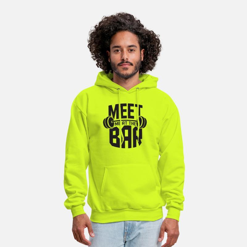 Men/'s Meet Me At The Bar Camo//Black Raglan Hoodie Gym Fitness Powerlifting Fit