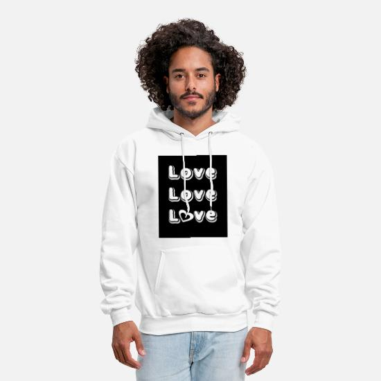 Love Hoodies & Sweatshirts - Love Love Love - Men's Hoodie white