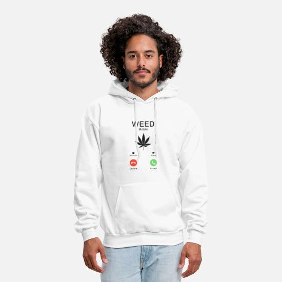 Weed Hoodies & Sweatshirts - Weed is calling Smoker Weed T-shirt - Men's Hoodie white