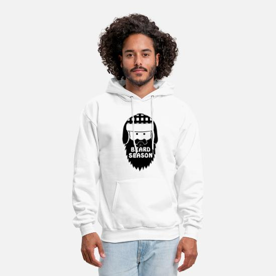 Ride Hoodies & Sweatshirts - It s Beard Season Beard Funny Beard Saying Moustac - Men's Hoodie white