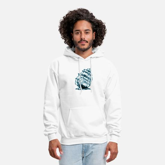 Skipper Hoodies & Sweatshirts - Sailing Ship - Men's Hoodie white