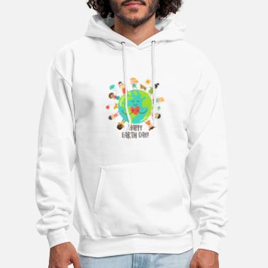 Happy Childrens Day Happy Earth Day Children Around The Planet 2019 - Men's Hoodie