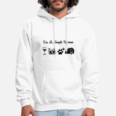 Simple I am a simple woman dog - Men's Hoodie