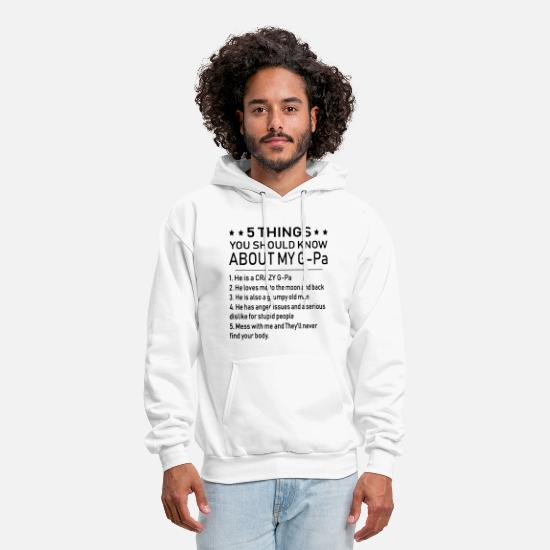 Grandpa Hoodies & Sweatshirts - 5 things you should know about my grandpa - Men's Hoodie white