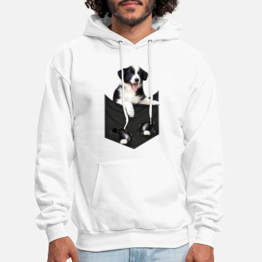 Border Collie mid classic pocket - Men's Hoodie
