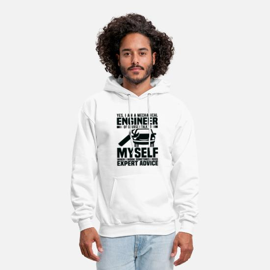 Funny Hoodies & Sweatshirts - Yes I Am A Mechanical Engineer - Men's Hoodie white