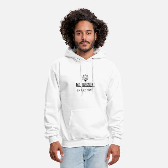 Meme Hoodies & Sweatshirts - Fun Fact I'm Funny Joke Sarcasm Introvert Awkward - Men's Hoodie white