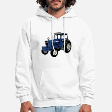Ford Old Ford Tractor Blue - Men's Hoodie
