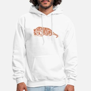 Lion Head Feline Predator Design - Men's Hoodie