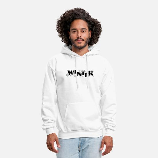 Snowflake Hoodies & Sweatshirts - WINTER Snowflakes - Men's Hoodie white