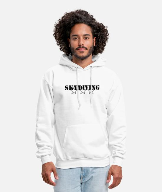 Joke Quote Fun Hoodies & Sweatshirts - Skydiving - Skydiver - Freestyle - Men's Hoodie white