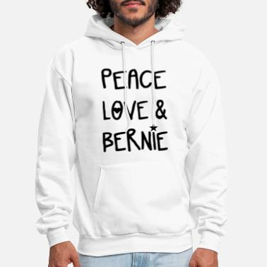 Bern Peace Love and Bernie GRAY Ladies cut Relaxed fit - Men's Hoodie