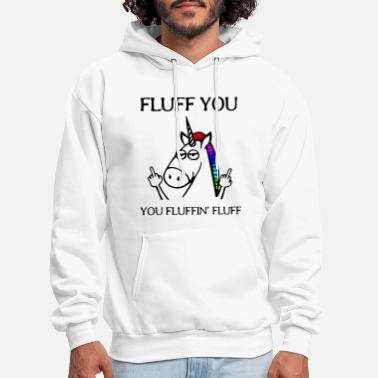 fluff you you fluffin fluff unicorn - Men's Hoodie