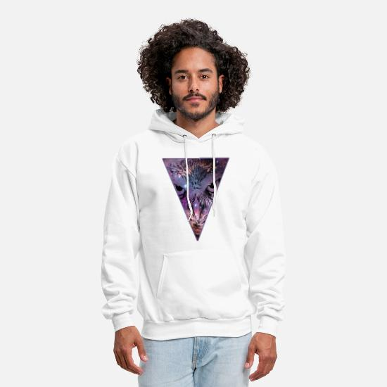 Cool Hoodies & Sweatshirts - Triangle Owl - Bird - Hipster - Space - Cool - Men's Hoodie white