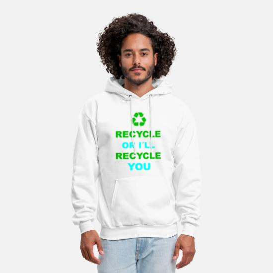 Nature Hoodies & Sweatshirts - Recycle recycling environment environmental gift - Men's Hoodie white