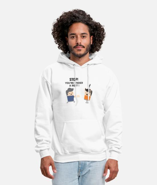 Rest Hoodies & Sweatshirts - Stop - You're Under A Rest - Men's Hoodie white